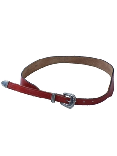 1980's Womens Accessories - Totally 80s Thin Leather Belt