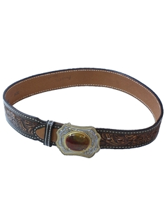 1990's Womens Accessories - Western Leather Belt