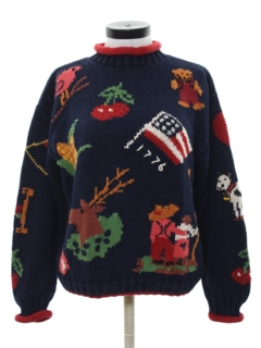 1980's Womens Cheesy Kitchy Ugly Sweater
