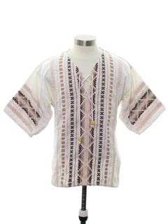 1970's Unisex Guatemalan Style Hippie Shirt