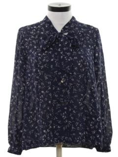 1980's Womens Print Secretary Shirt