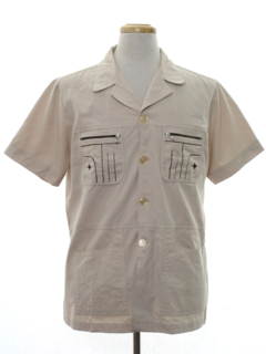 1960's Mens Mod Safari Style Sport Shirt