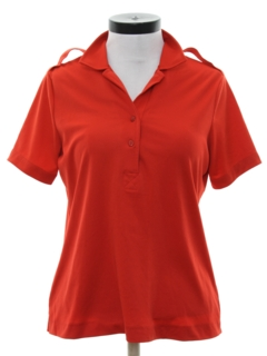 1980's Womens Knit Golf Shirt