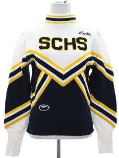 1980's Womens or Girls Cheerleader Sweater