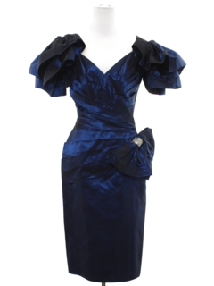 1980's Womens Totally 80s Wiggle Prom Or Cocktail Dress