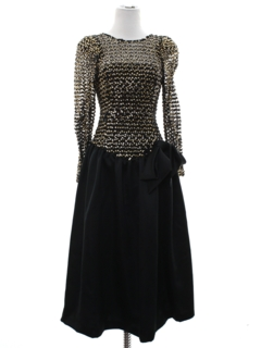 1980's Womens Totally 80s Style Prom Or Cocktail Dress