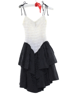 1980's Womens/Girls Totally 80s Mini Prom Or Cocktail Dress