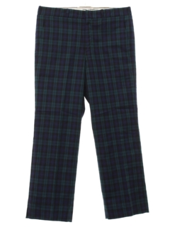 1960's Mens Mod Plaid Golf Pants