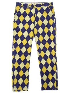 1990's Mens Crazy Argyle Plaid Golf Pants