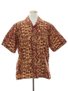 1980's Mens Hippie Style Sport Shirt