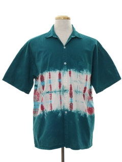 1980's Mens Totally 80s Hippie Style Sport Shirt