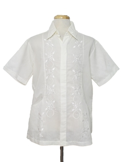 1980's Mens Embroidered Hippie Style Sport Shirt
