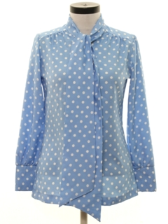 1970's Womens Polka Dot Secretary Shirt