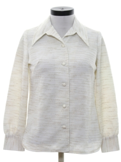 1970's Womens Knit Leisure Style Shirt