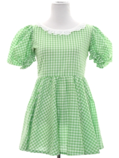 1960's Womens or Girls Square Dance Mini Dress