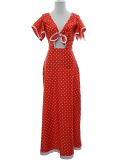 1980's Womens Maxi Dress