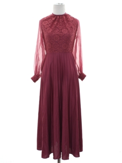 1970's Womens/Girls Prom Or Cocktail Maxi Dress