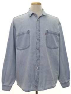 1990's Mens WIcked 90s Levis Denim Shirt