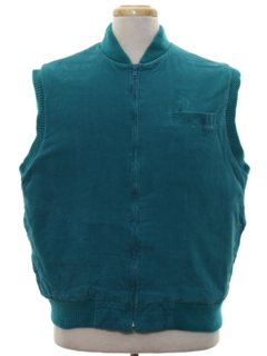 1980's Mens Totally 80s Corduroy Vest