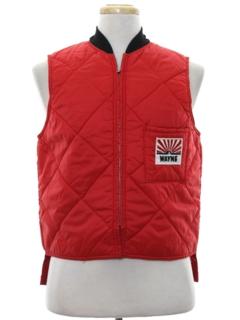 1980's Mens Ski Style Work Vest