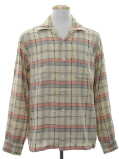 1950's Mens Flannel Shirt