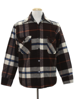 1970's Mens Flannel CPO Shirt Jacket