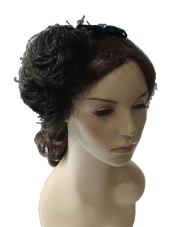 1950's Womens Accessories - Feather Hair Clip Style Hat