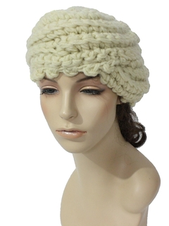 1960's Womens Accessories - Mod Knit Hat