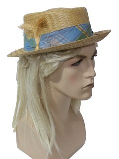 1960's Mens Accessories - Mod Straw Hat