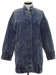 1980's Womens Totally 80s Acid Wash Denim Jacket