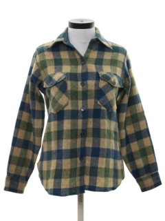 1980's Womens Wool Flannel Shirt