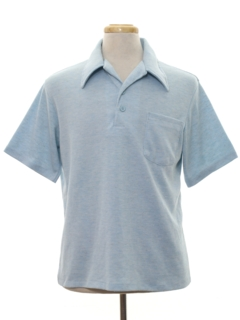 1970's Mens Knit Polo Style Golf Shirt