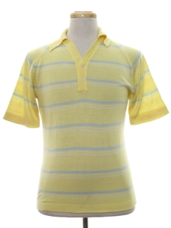 1980's Mens Totally 80s Preppy Knit Polo Shirt