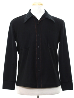 1960's Mens Mod Knit Shirt-Jac style Shirt