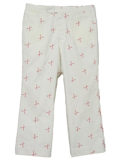 1980's Mens Totally 80s Preppy Golf Pants