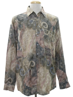 1990's Mens Wicked 90s Graphic Print Club/Rave Shirt
