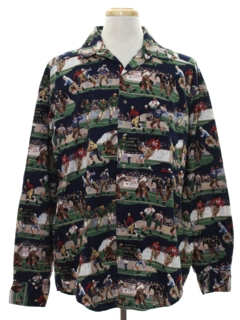 1980's Mens Totally 80s Graphic Print Shirt