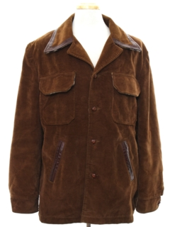 1970's Mens Velvet Car Coat Jacket