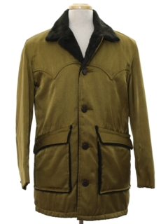 1960's Mens Mod Western Style Car Coat Jacket