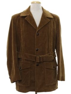 1960's Mens Mod Corduroy Car Coat Jacket