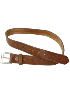 1950's Mens Accessories - Stamped Leather Hippie Belt