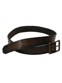 1960's Mens Accessories - Leather Hippie Belt