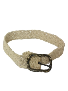 1960's Mens Accessories - Macrame Hippie Belt