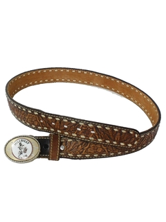 1970's Mens Accessories - Western Leather Belt