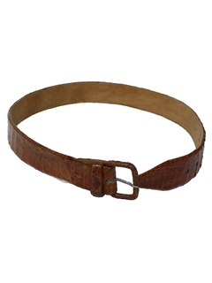 1980's Mens Accessories - Reptile Leather Belt