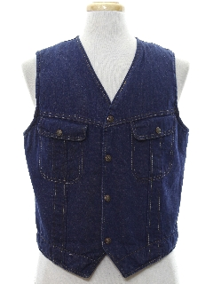 1970's Mens Denim Vest