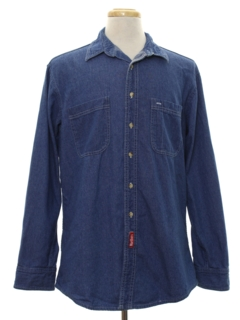 1980's Mens Denim Shirt