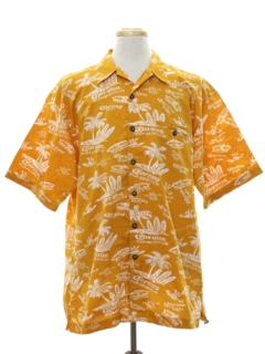 1980's Mens Totally 80s Hawaiian Beer Shirt