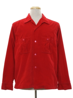 1950's Mens Corduroy Sport Shirt