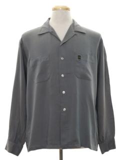 1950's Mens Mod Rayon Sport Shirt